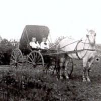 Victor Golden and J. H. Naysmitrh on Naysmith farm Abt 1898.JPG